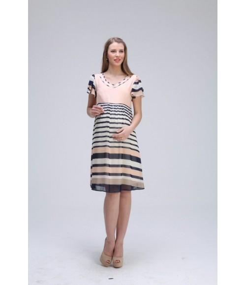 Kısa Kollu Açık Renk Elbise