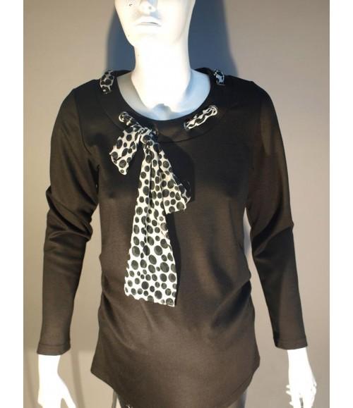 Uzun Kollu Hamile Tunik - Siyah