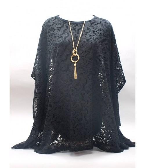 Uzun Kollu Hamile Tunik Takım /  Siyah